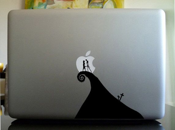 Macbook decal sticker laptop decal sticker nightmare before christmas couple by otakudecals on etsy