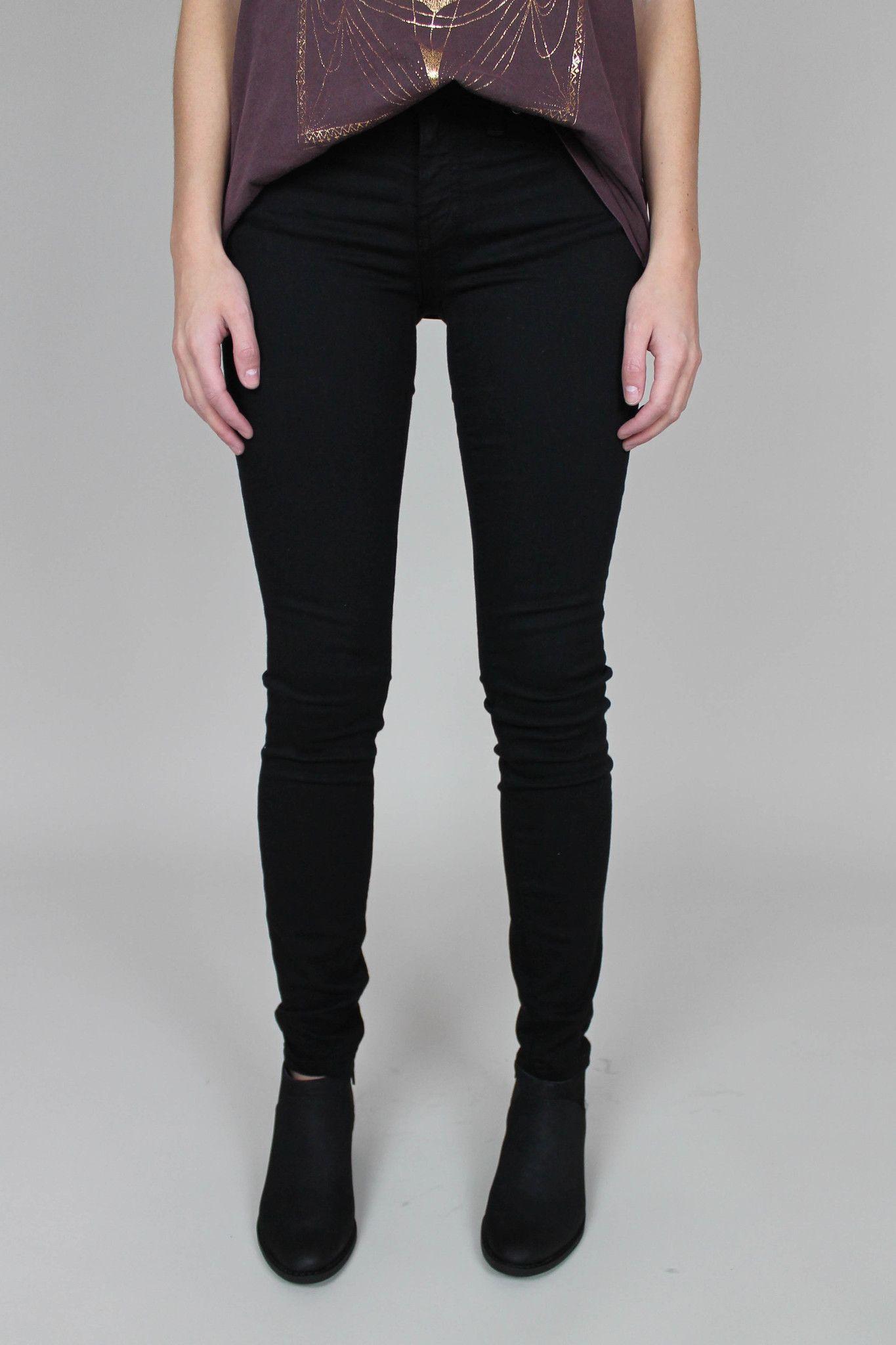 Pitch Black Super Skinny Ankle Jeans
