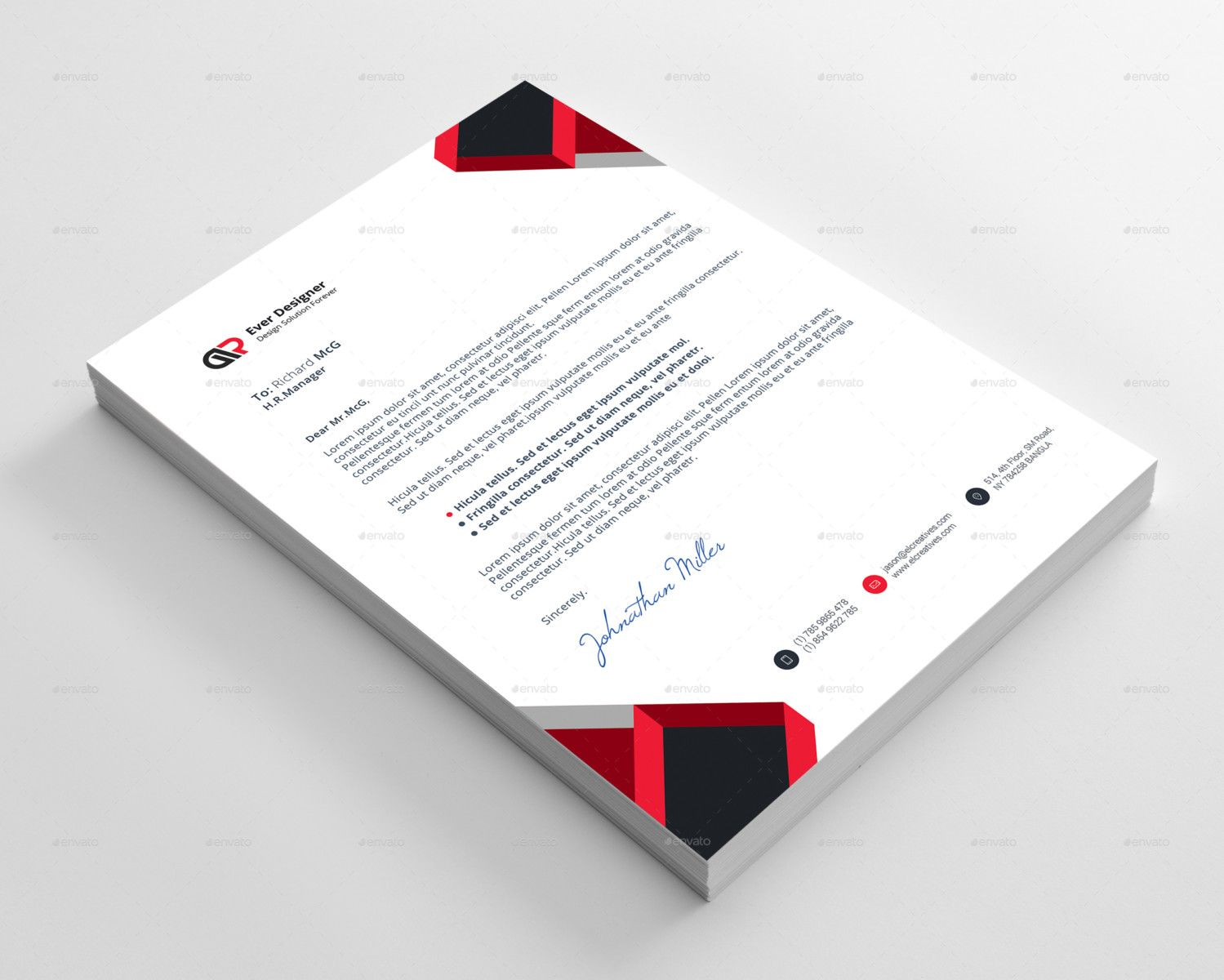 business letter head template