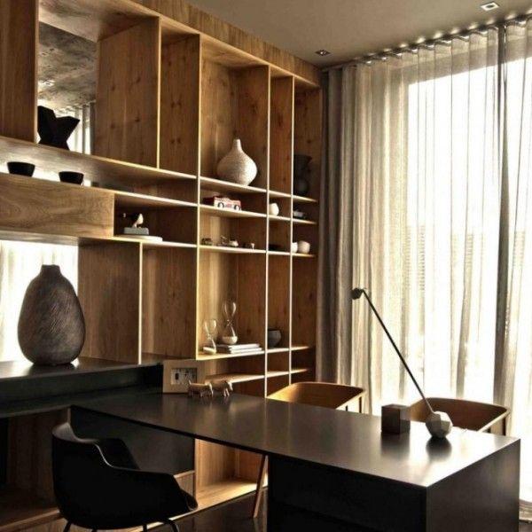 haus-design-arbeitszimmer-regale-hell-holz shelf Pinterest - regale für wohnzimmer