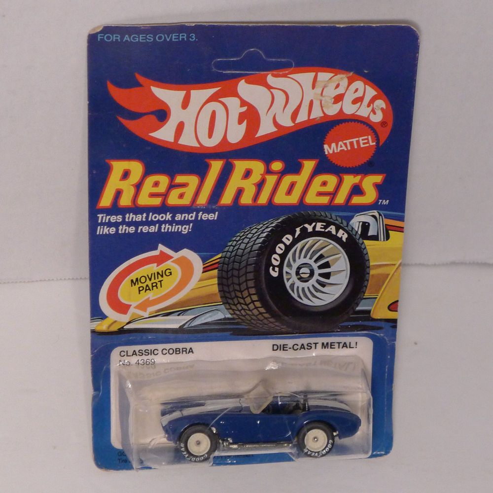 Whitman hot wheels coloring book - Vintage Hot Wheels Real Riders Classic Cobra White Wheels With Box Unopened