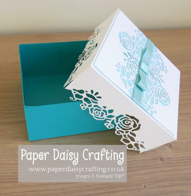 Photo of Lovely Flowers edgelits dies gift box Stampin Up