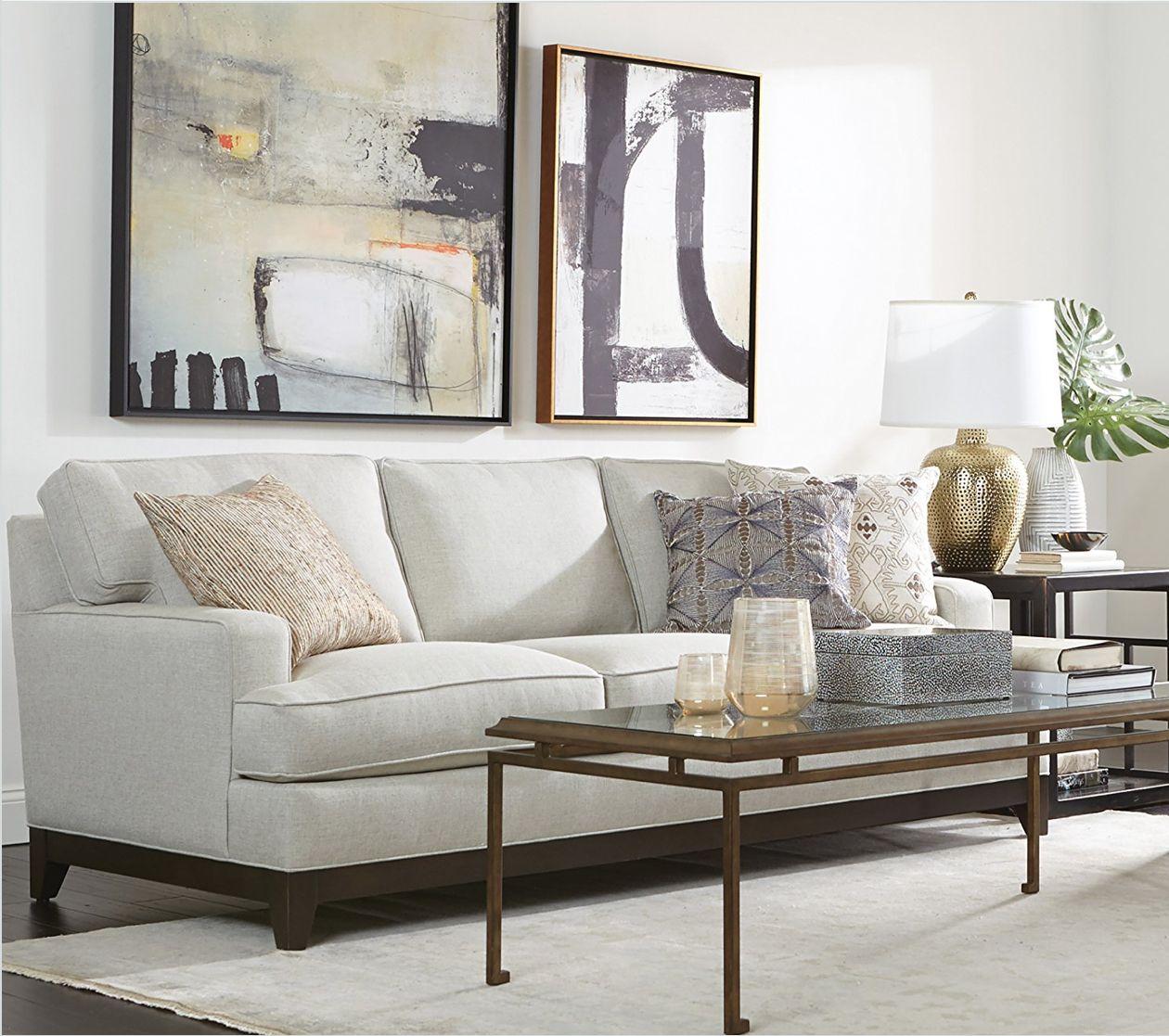 Living room featuring an ethan allen arcata sofa furniture in