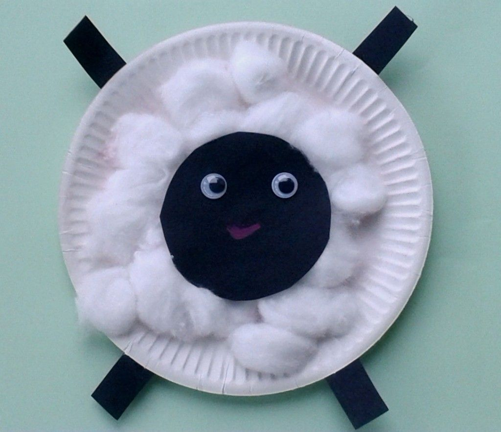 Sheep in a jeep Crafts for Toddlers - Paper Plate Baby Farm Animals (Could also make a pig with cotton balls and paint them pink after glued on) & Paper Plate Lamb | Toddler activities | Pinterest | Lambs Craft and ...