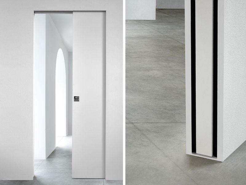 Puerta corredera empotrada puerta corredera interior pared for Puertas correderas blancas interior