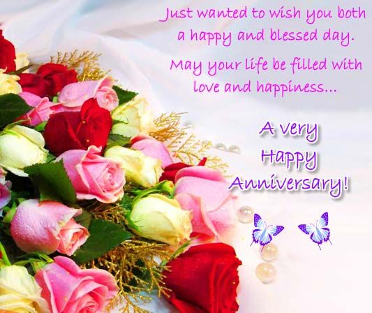 A Happy And Blessed Anniversary Happy Wedding Anniversary Wishes Happy Anniversary Quotes Happy Anniversary Wishes