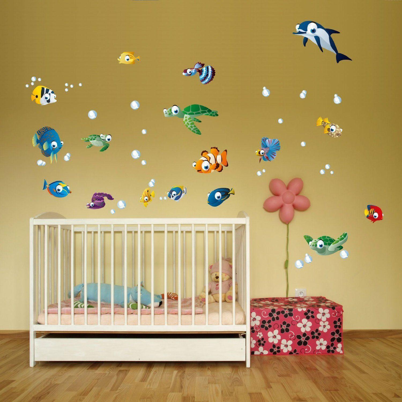 Wandsticker Unterwasserwelt Fische Ozean Wandtattoo Fur Kinderzimmer Wandtattoo Kinderzimmer Kinder Zimmer Kinder Badezimmer