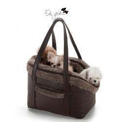 Eh Gia Bag and Bed Brown Hondendraagtas
