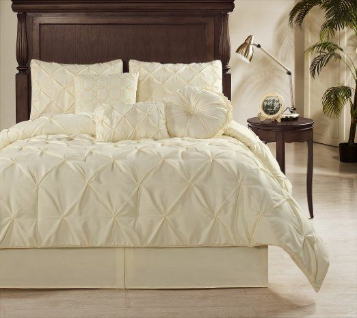 Chezmoi Collection Sydney 7 Piece Pintuck Duvet Cover Set