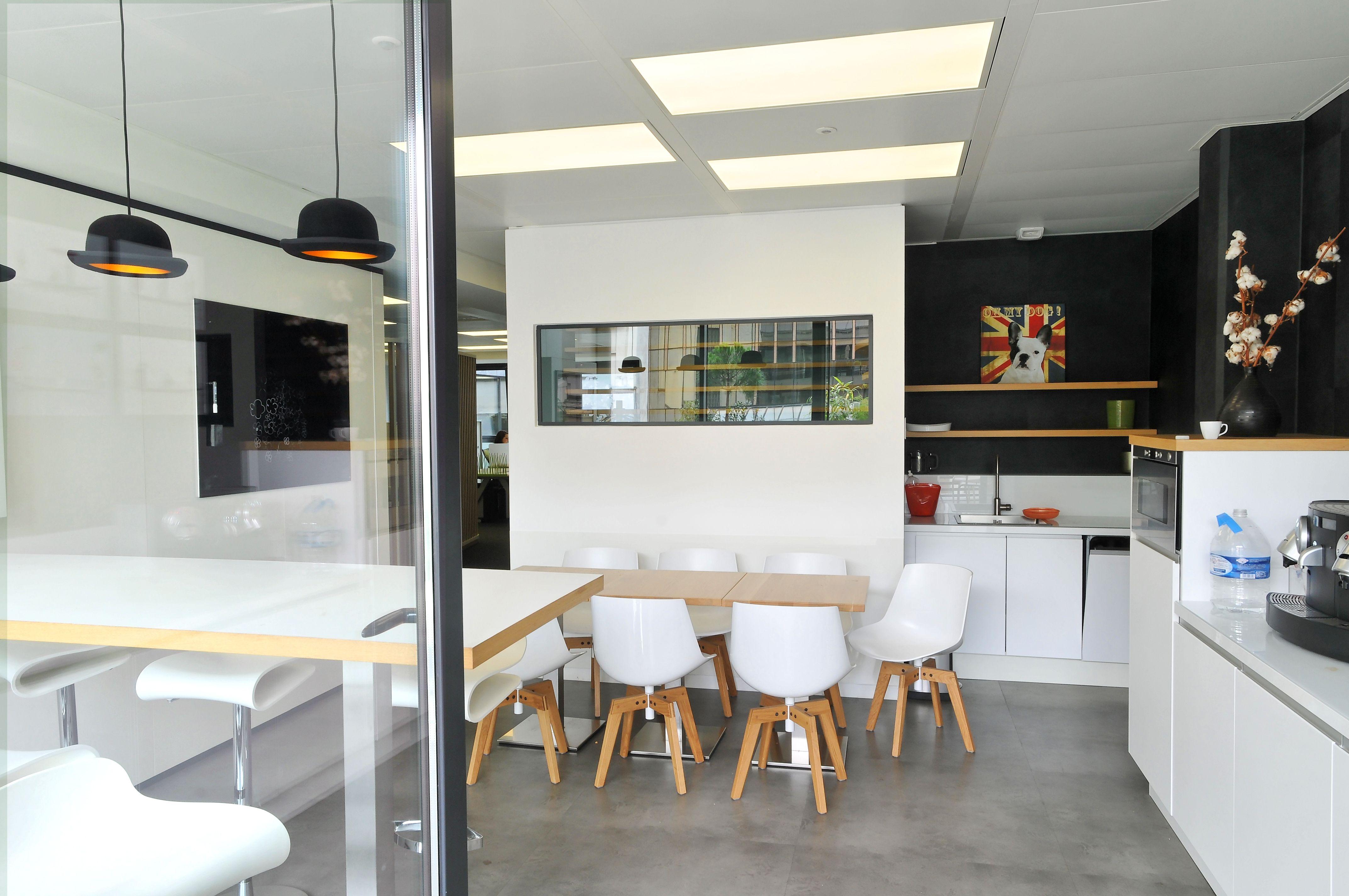 aménagement d'une cafétéria par cléram #inspiration #design #bureau