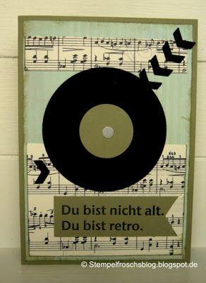 Retro - die Schallplatte #konzertkartenverpacken