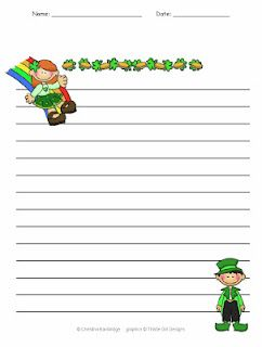 primary and intermediate lined St. Patrick's Day themed writing paper. - Re-pinned by @PediaStaff – Please Visit ht.ly/63sNt for all our pediatric therapy pins