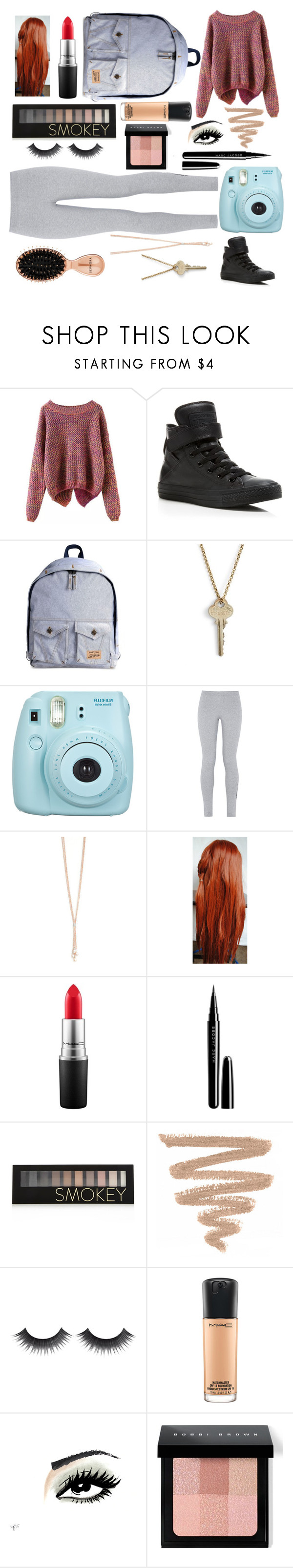 """Friday Photography"" by lauren-plans ❤ liked on Polyvore featuring Converse, Eastpak, The Giving Keys, NIKE, MAC Cosmetics, Marc Jacobs, Forever 21, Bobbi Brown Cosmetics, Sephora Collection and 043"