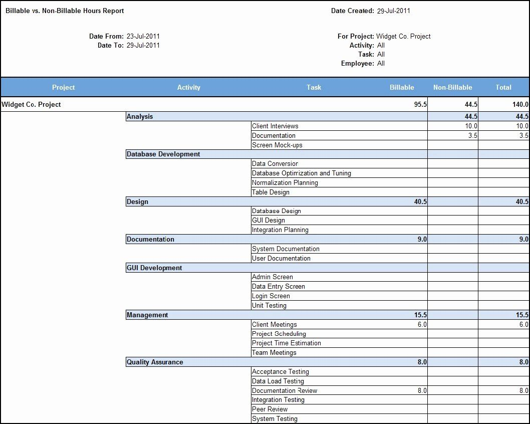 Attorney Billable Hours Template New Billable Hours Invoice