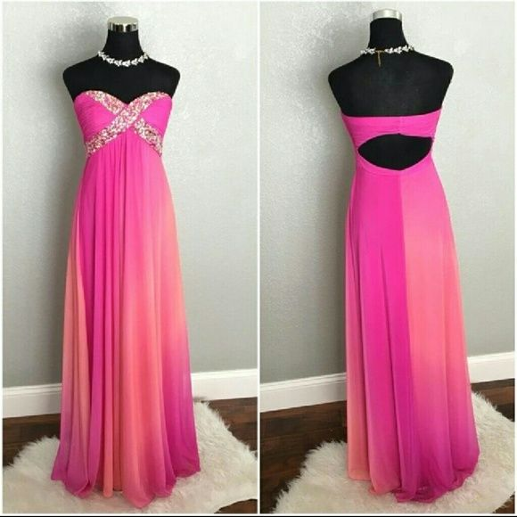 Prom DressCoral/purple
