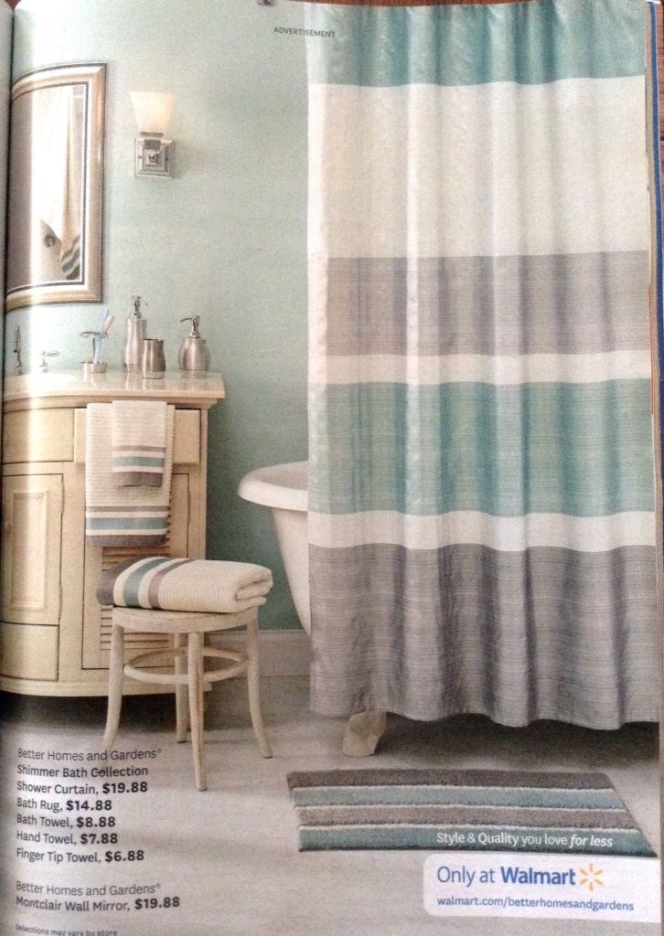 Give your bath a splash of style mix in metallic accessories a new set of towels and a shimmering shower curtain for a boost in your bath