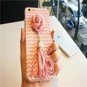 Pink Flower Tassel Wave Pattern Iphone 6/6s Case