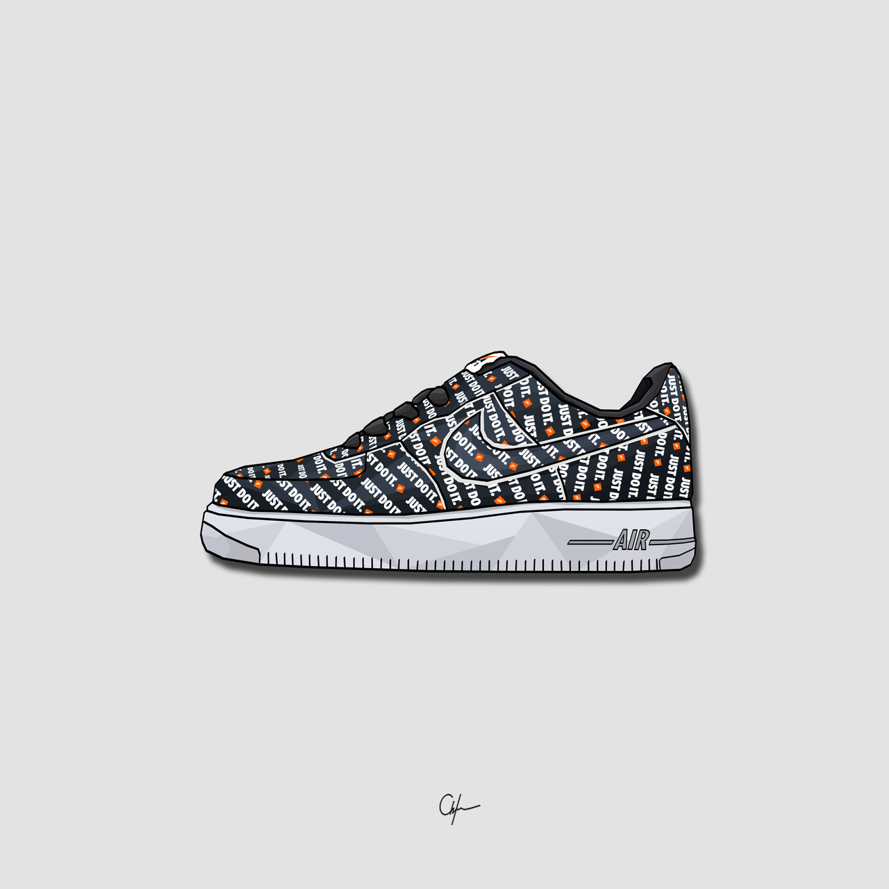 "6f2848b1 Nike Air Force 1 ""Just Do It"" Art 