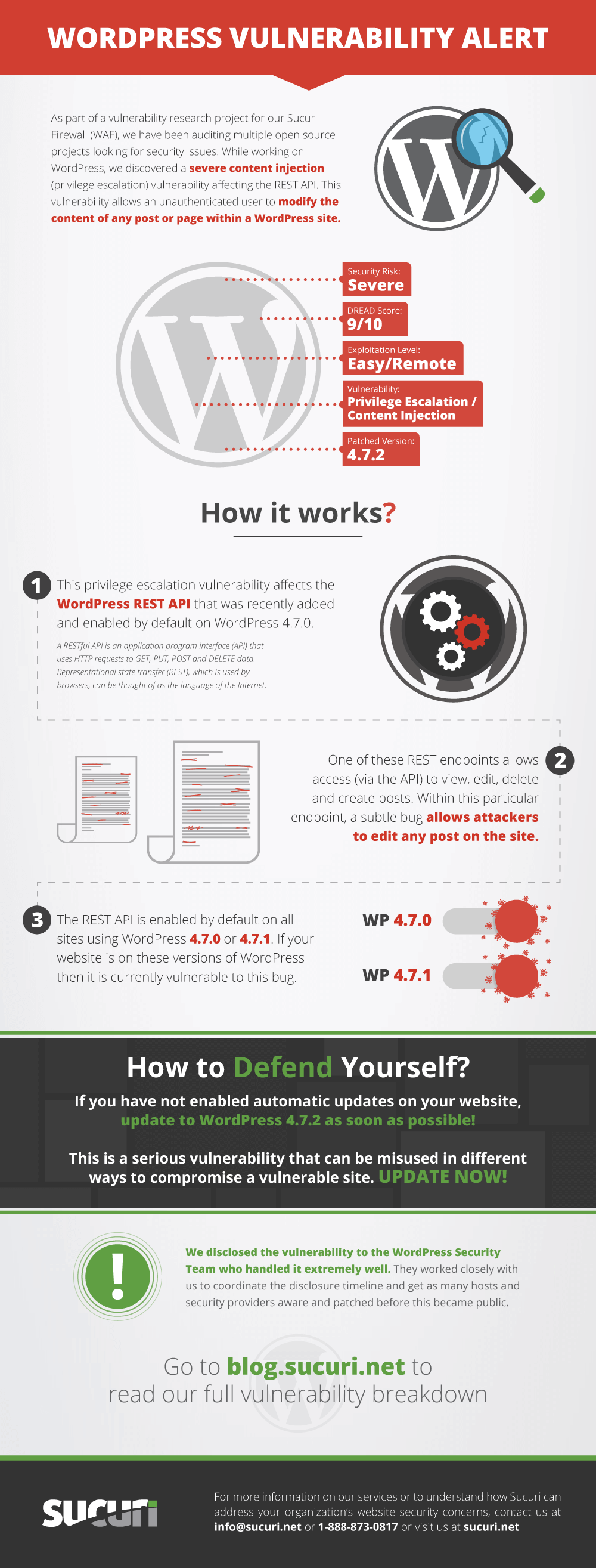 This infographic about WordPress vulnerability WordPress
