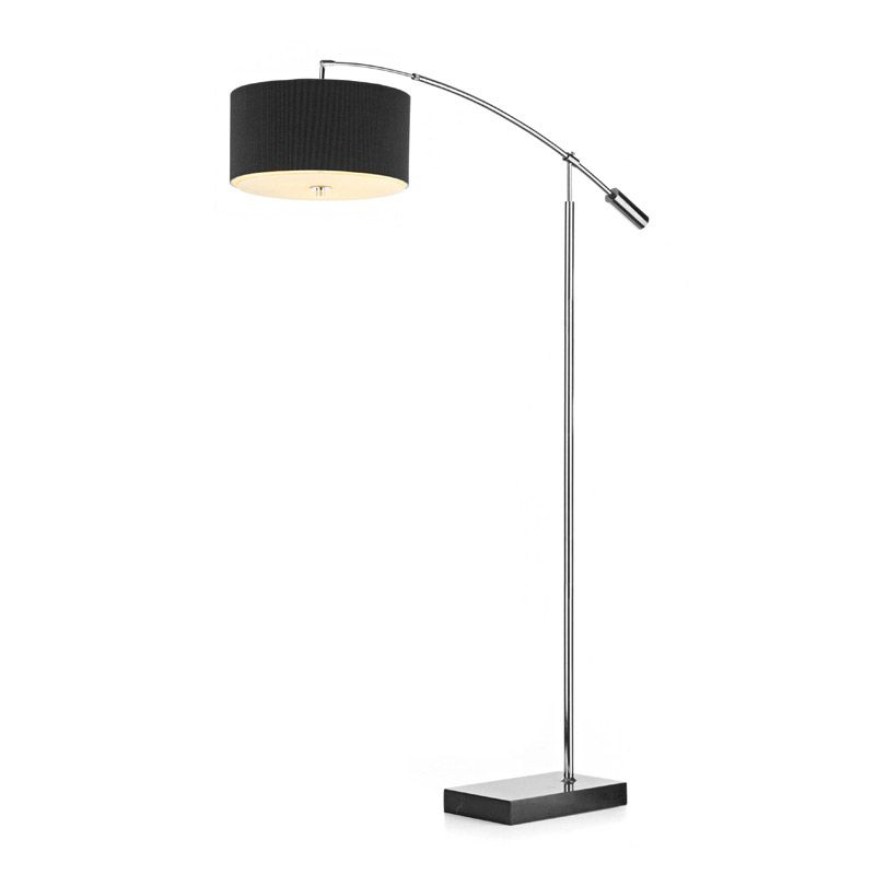 Zaragoza 3 Light Overhang Floor Lamp Black Large
