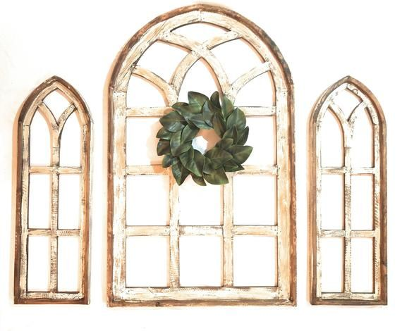 Set of 3 Farmhouse Wooden Paradise Window Collecti