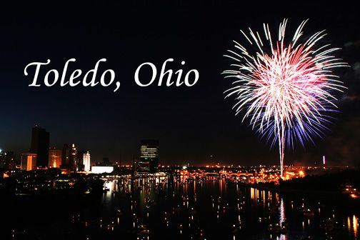 4th Of July Off The Hi Level Bridge In Toledo Night Photography
