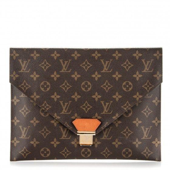 Louis Vuitton Monogram Poche Plate Envelope Clutch Mm Louis Vuitton Monogram Louis Vuitton Envelope Clutch