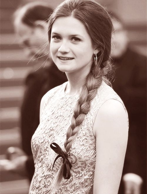 Bonnie Wright, braid, bow. When Turbo Charged Reading you 'feel' the text http://youtu.be/Qlf74Lr_xbQ