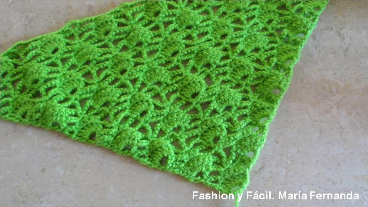 Fashion y Fácil DIY: Tejido en triángulo punto abanico. Un punto ...