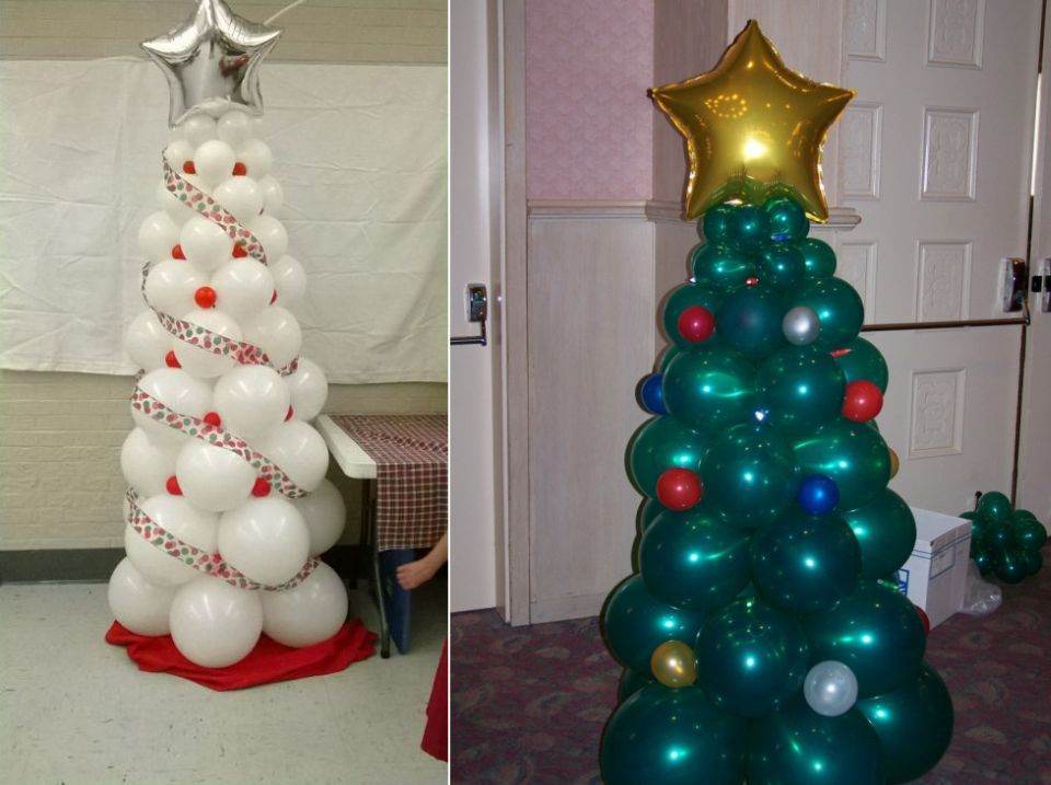 Last Minute Christmas Tree Decoration Ideas You Ll Love Christmas Balloon Decorations Christmas Tree Christmas Balloons