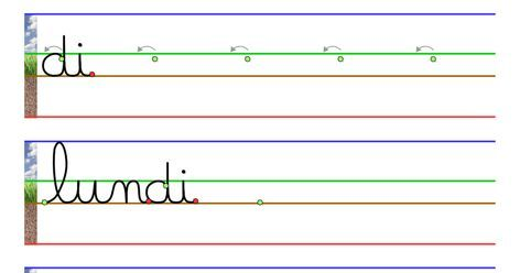 cahier d'écriture cursive - jours de la semaine.pdf ...