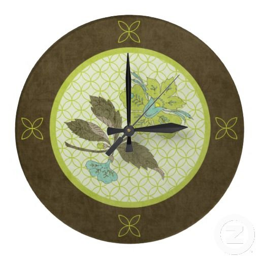 Good Song Of The Lady Slipper Wall Clock This Stunning Design Is Made Up Of A  Gorgeous Lady Slipper Flower In Colors Of Aqua And Lime Green Atop A Muted  Light ...