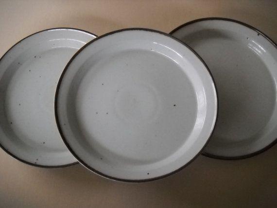 3 Vintage Dansk Denmark Niels Refsgaard Brown Mist Dinner Plates & 3 Vintage Dansk Denmark Niels Refsgaard Brown Mist Dinner Plates ...