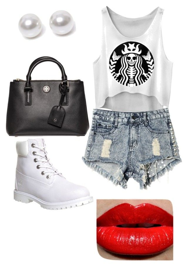 Mmmm by ponylandbitch on Polyvore featuring polyvore, fashion, style, Timberland, Tory Burch and Nouv-Elle