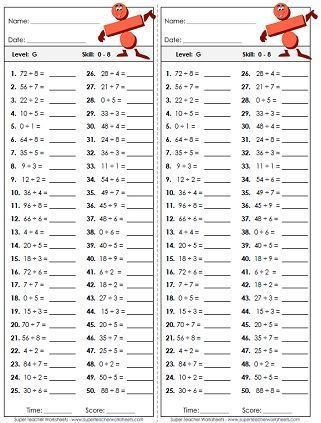 Gallery For Multiplication And Division Worksheets Grade 5 Blme