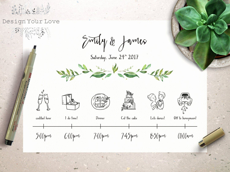 Wedding Day Timeline Template Free New Wedding Timeline