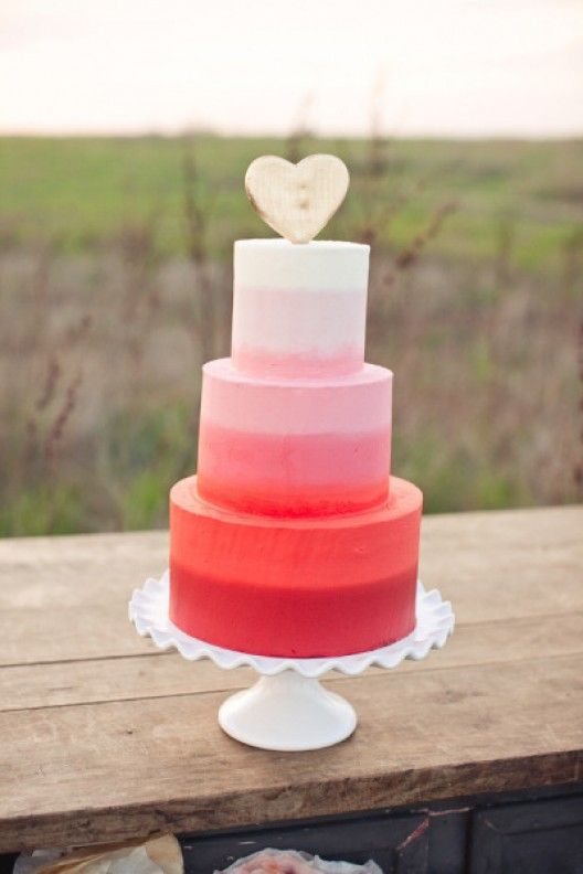 Ombre cakes.