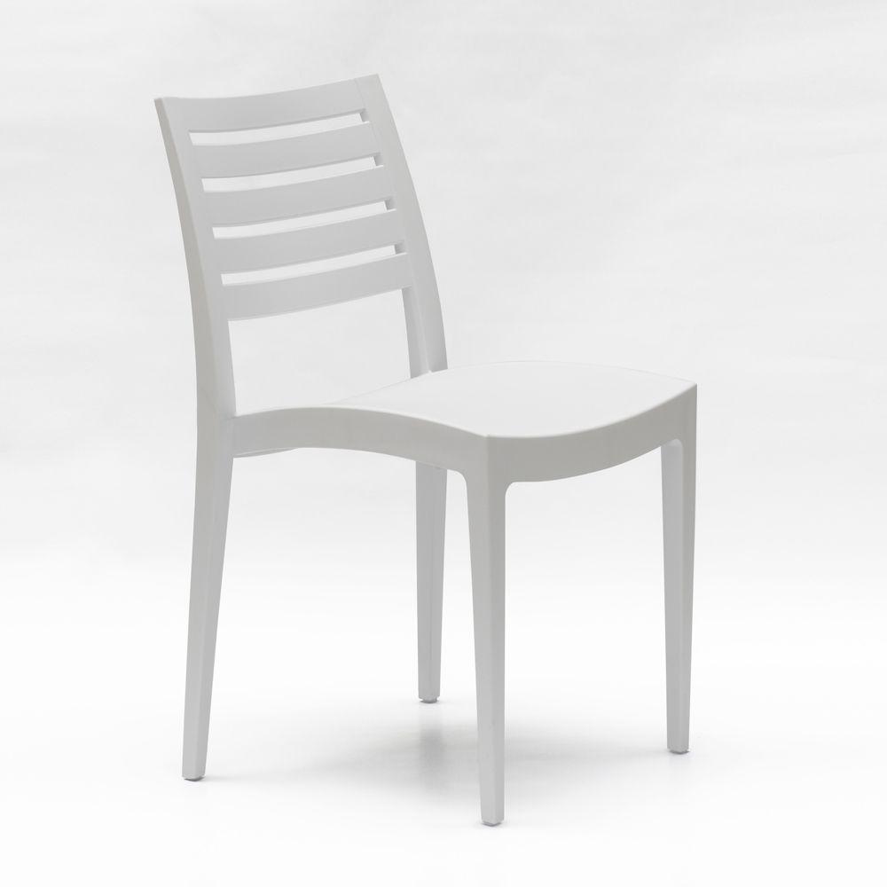 Sedie Da Giardino In Plastica Grand Soleil.Sedia Impilabile In Polipropilene Per Giardino E Bar Grand Soleil