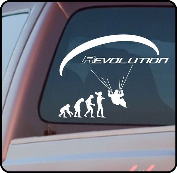 Paragliding Vinyl Sticker Decal For Truck Or Car Window Etsy In