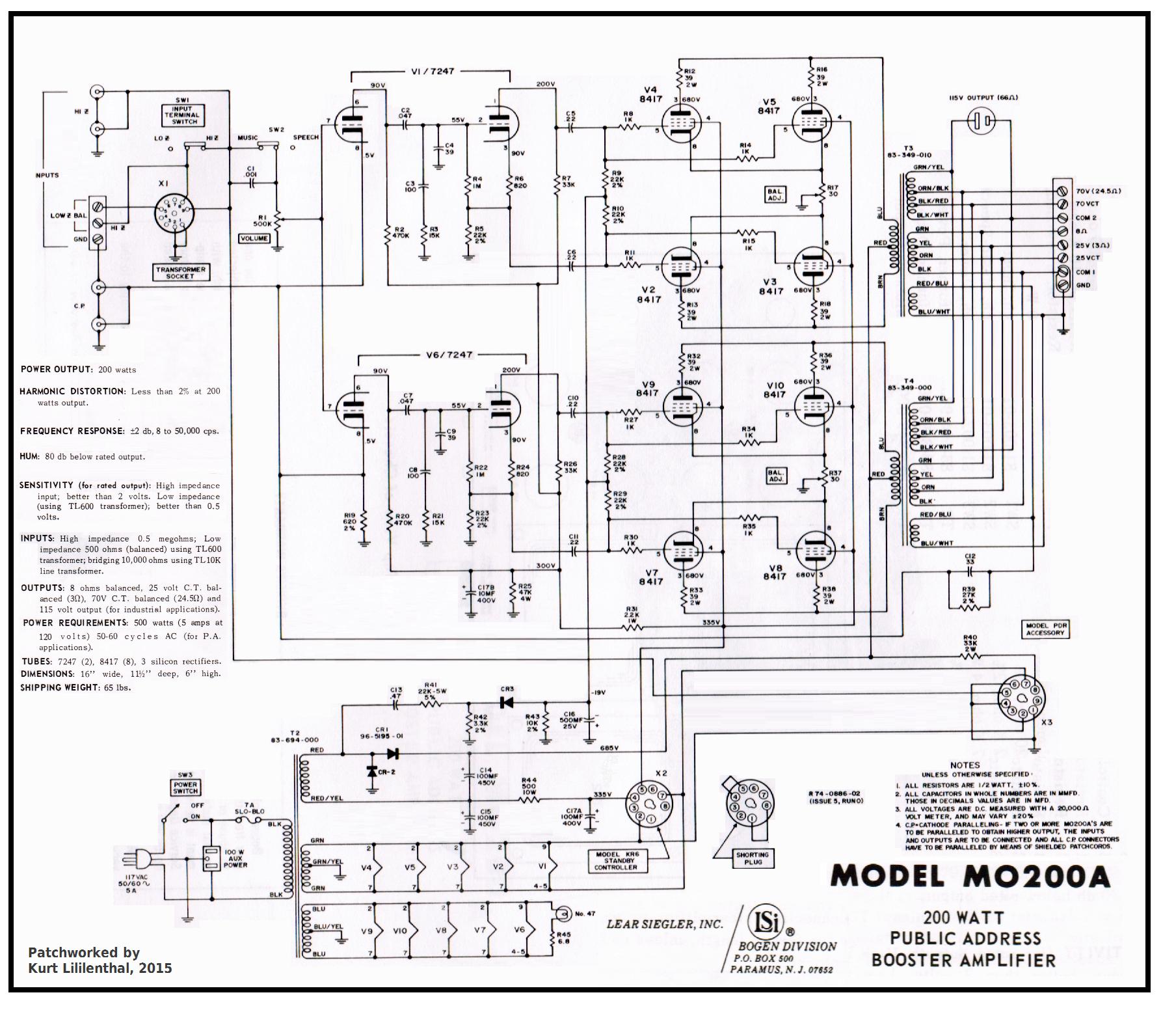 Bogen Mo 200a X 8 Pp Ed
