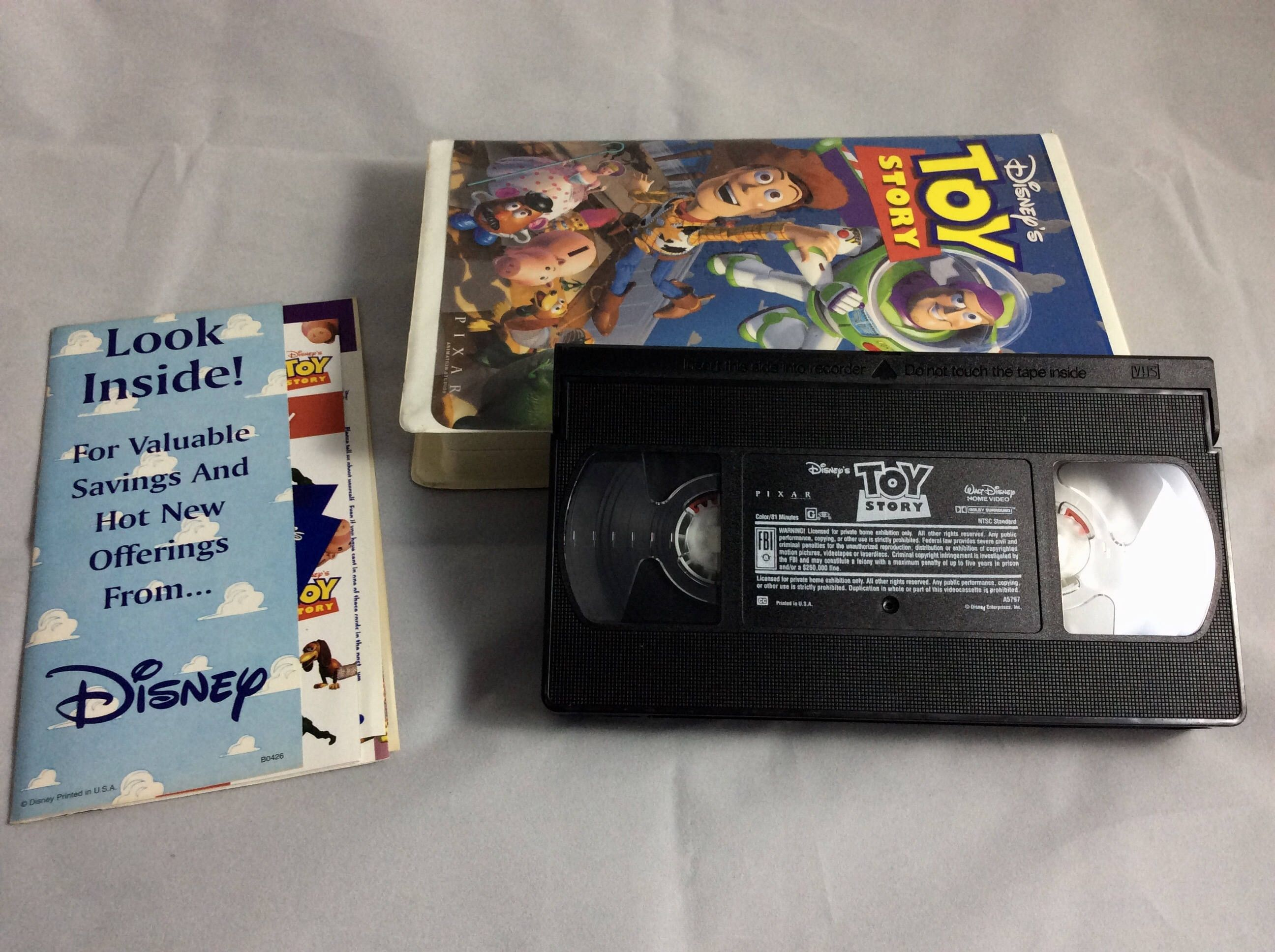 toy story on vhs tape - walt disney home video - vintage 90s