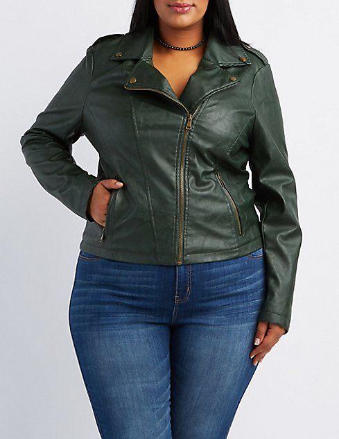 9ed4eebcdde7c Plus Size Moto Jacket