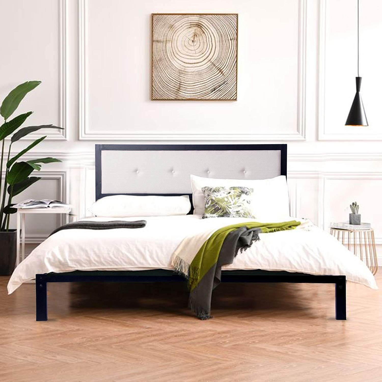 54 Full size platform bed, Bed, Home decor