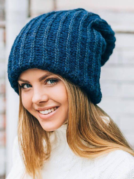 9db3c065543b8 Slouchy winter hat Dread tam hat Oversized beanie Winter benie hat ...