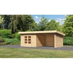 Photo of Karibu garden house Northeim (W x D: 664 x 360 cm, wood, 9.3 m², wall thickness: 40 mm, with extension) Karibu