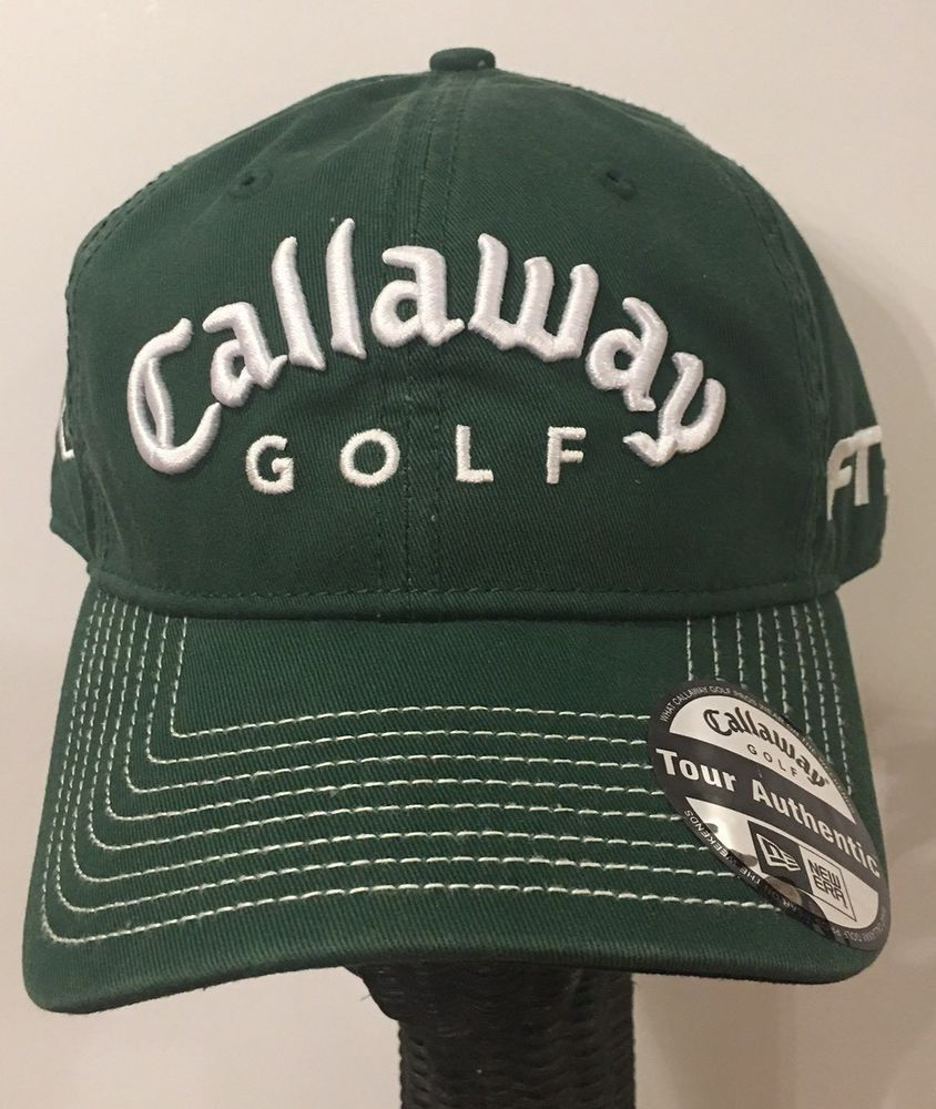 ae07ca93cb7 CALLAWAY GOLF Fusion Technology Tour Authentic Adjustable New Era Green Hat  Cap
