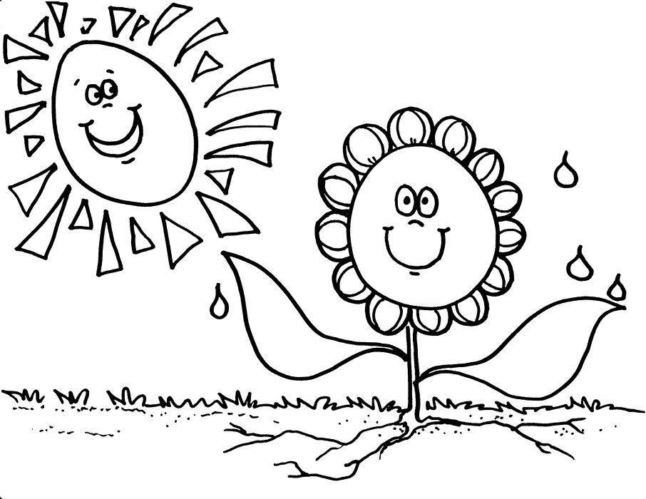planta con sol para colorear - Buscar con Google   Ciencias ...