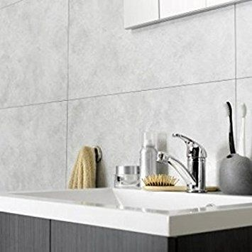 Dumawall Plus Cloudy White Bathroom Wall Cladding Kitchen Pvc Panels Tile Effect 375mm X 655mm