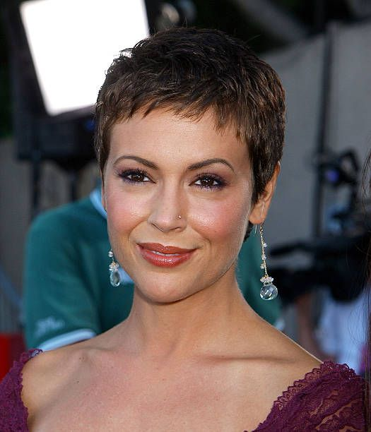 Alyssa Milano during 2003 Teen Choice Awards - Arr