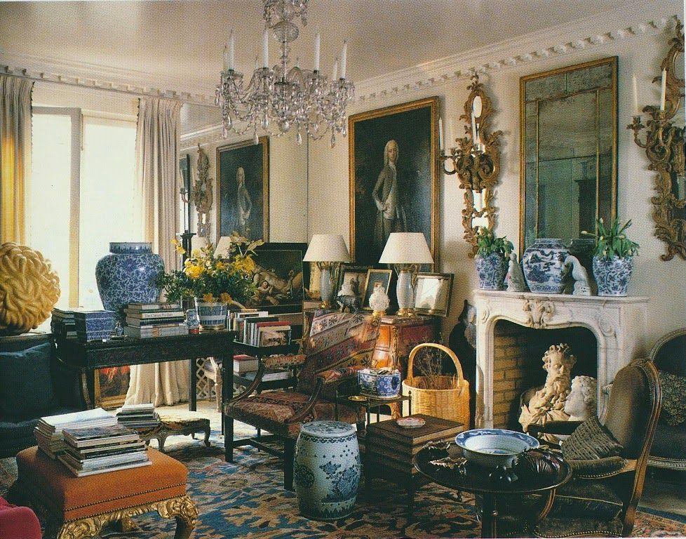 Klassiek Engels Interieur : A drawing room from interiors by minn hogg & wendy harrop design